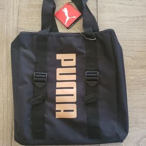 Puma black and rose gold canvas bag